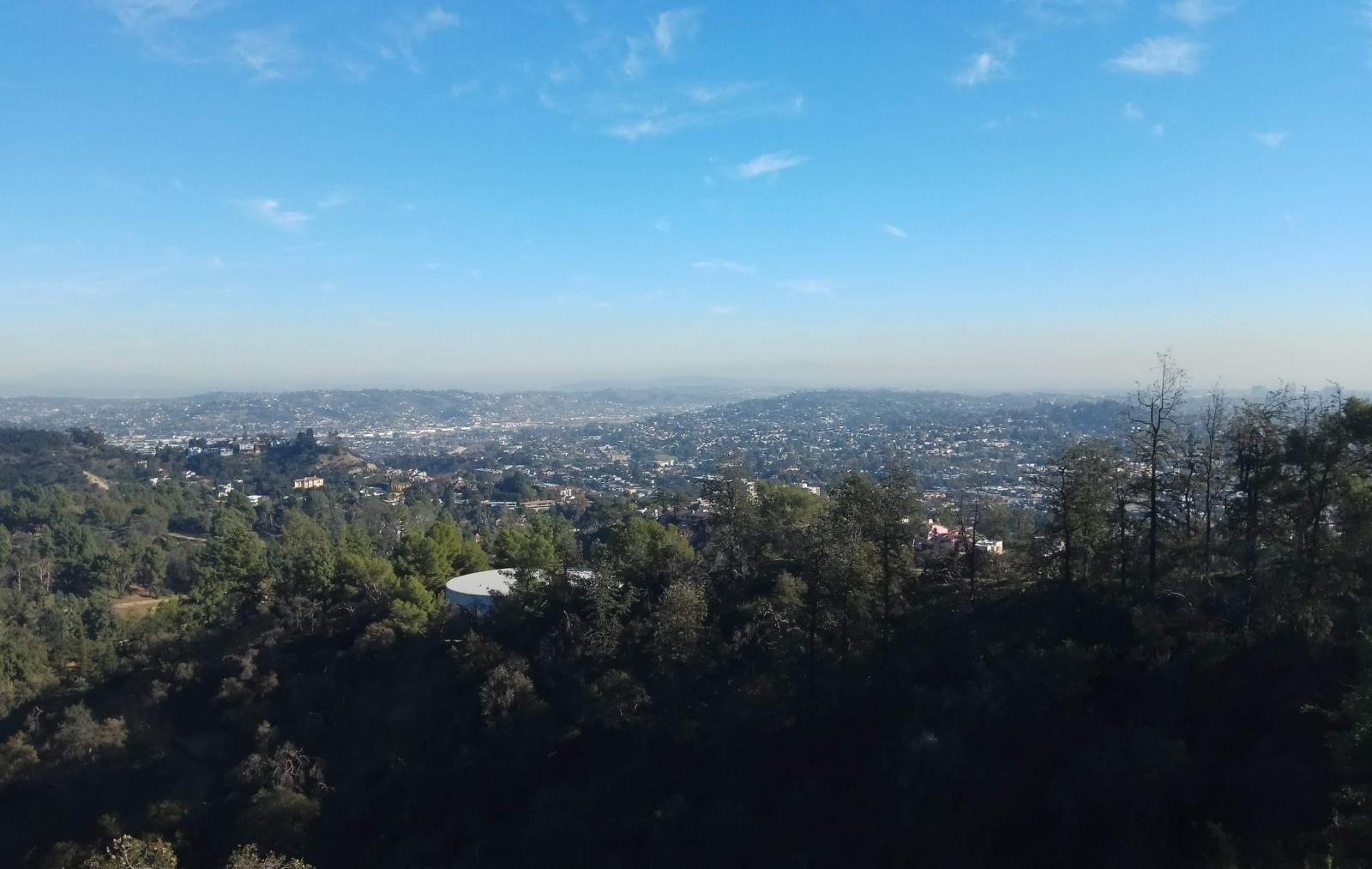 Вид на Лос-Анджелес с площадки обсерватории Гриффита
