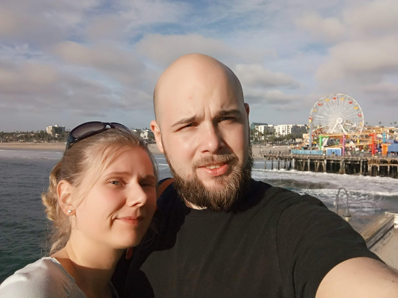 Мы на побережье Санта-Моники